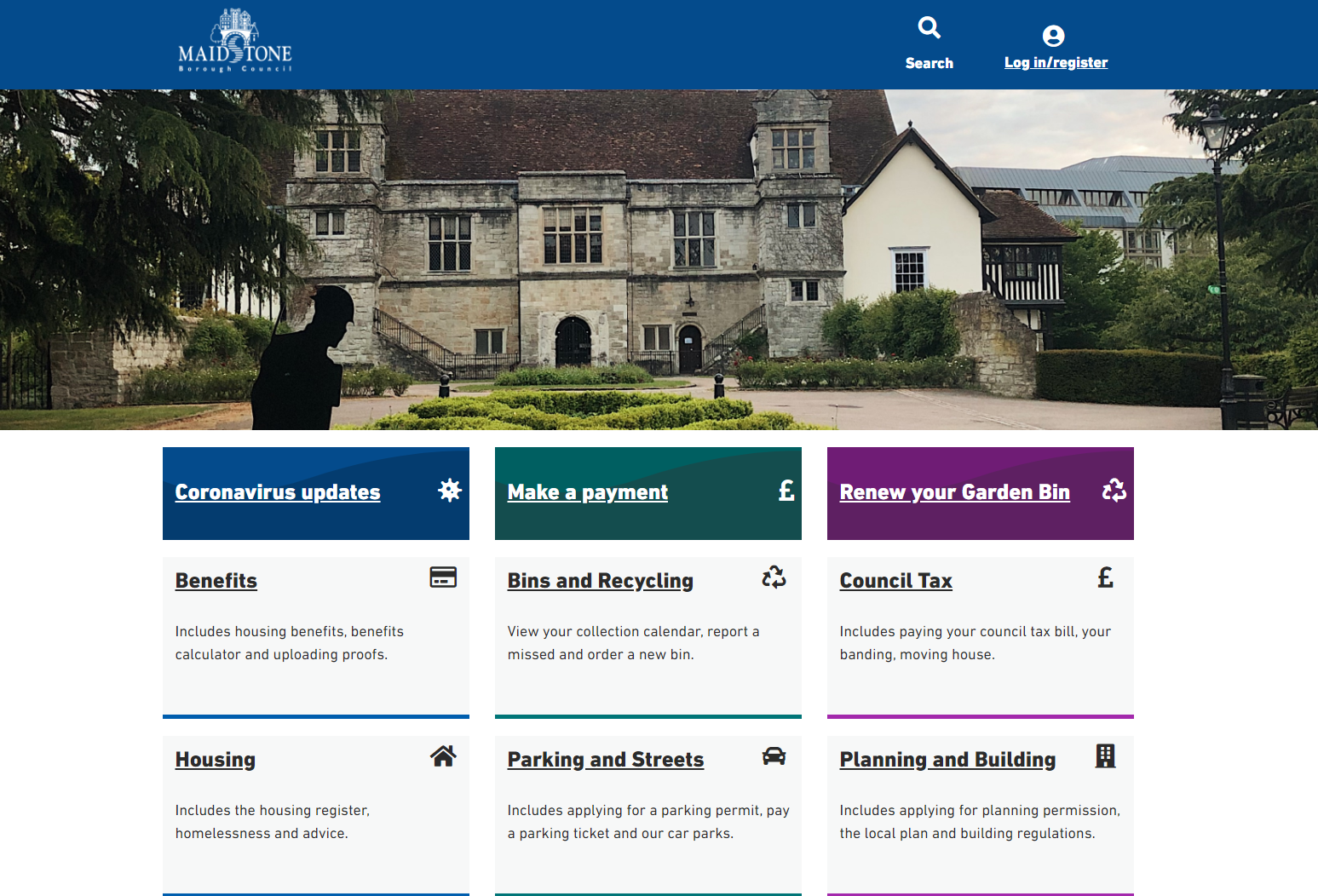 maidstone.gov.uk homepage
