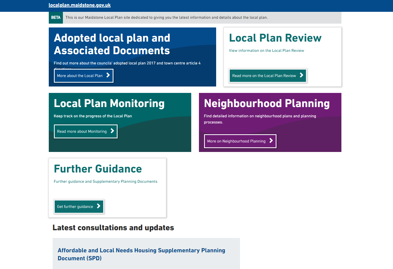 local plan homepage